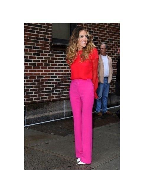 bluza rosie+pantaloni roz