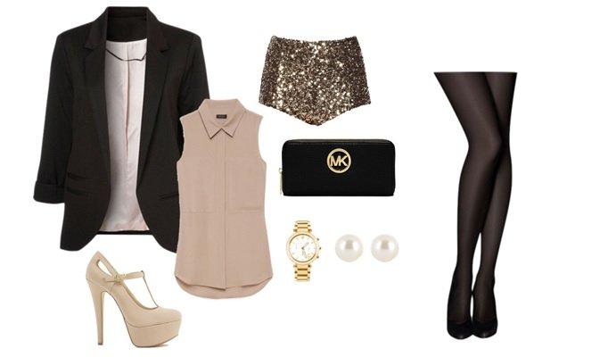 combinare blazer negru