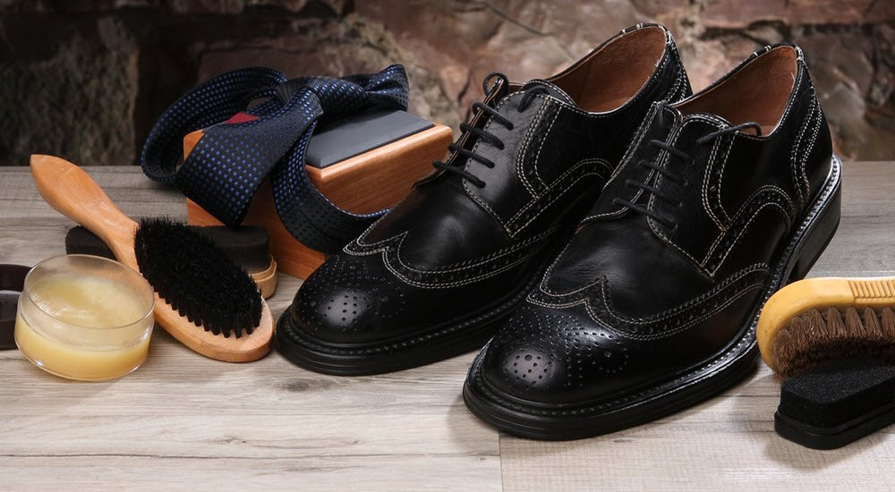 pantofi brogue negri