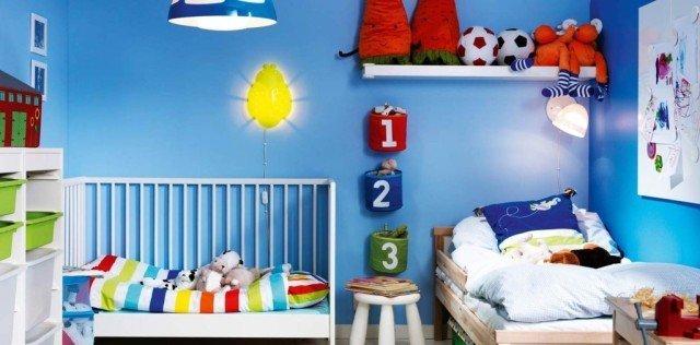 culoare albastra camera copii