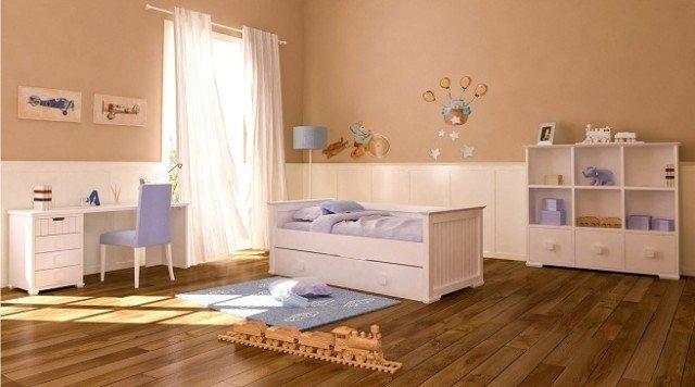 culori pamantii camera copii