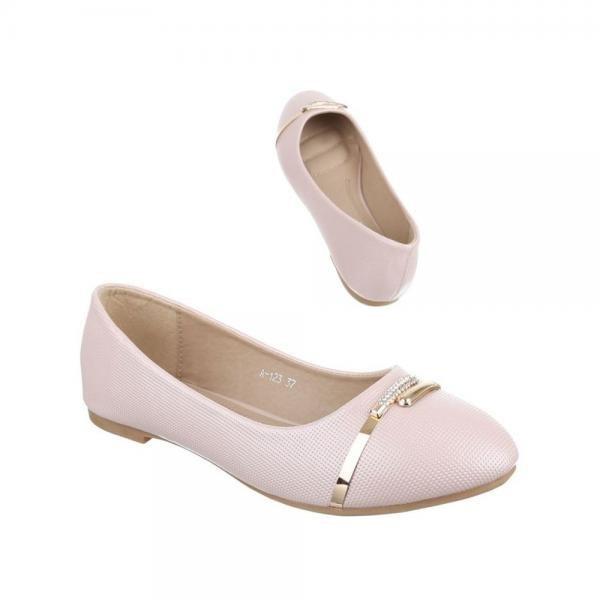 balerini-roz-cu-model-perforat-si-accesoriu-auriu-1