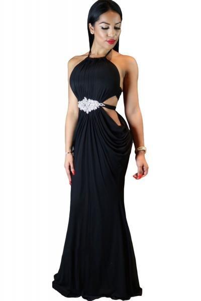 p454-1-rochie-eleganta-de-seara-cu-model-drapat-si-accesoriu-cu-pietre-in-talie
