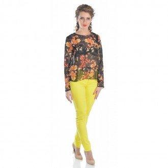 pantalon-casual-dama-raspberry-yellow-skinny-trousers-culoare-galben-raspberry