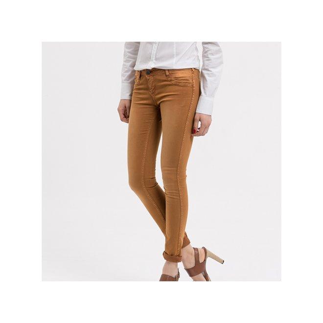 pantaloni skinny camel