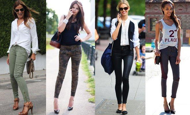pantaloni skinny diversi