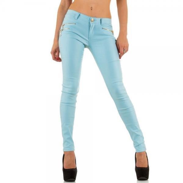 pantaloni-skinny-turcoaz-cu-fermoare-decorative-1