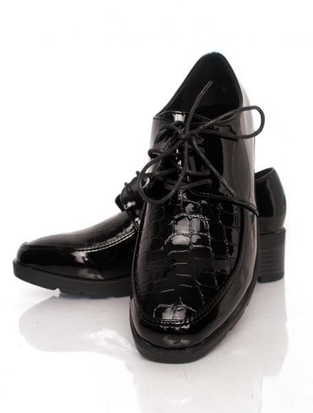 pantofi-on-again-croc-again-black-zenda