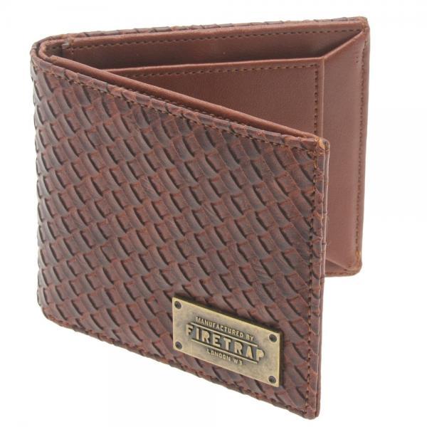 portofel-de-culoare-maro-cu-model-in-relief-firetrap-1