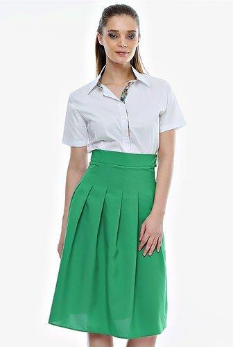 fusta-plisata-verde-f24-ama-fashion