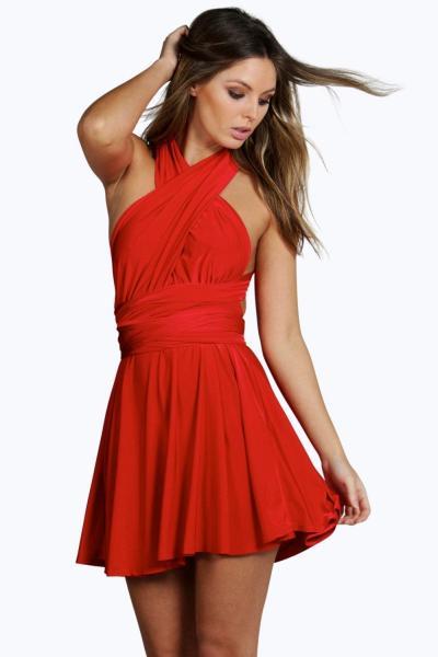 rochie-de-ocazie-scurta-de-culoare-rosie-1