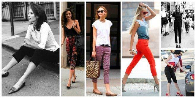 pantaloni capri la moda 2017