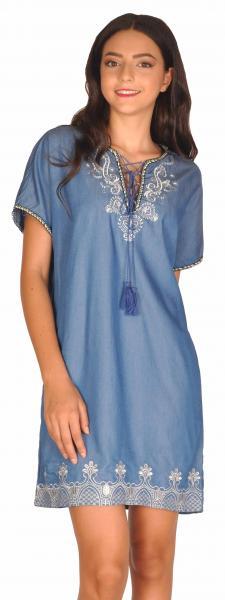 rochie-casual-bleu-scurta-cu-model-aplicat-l-69