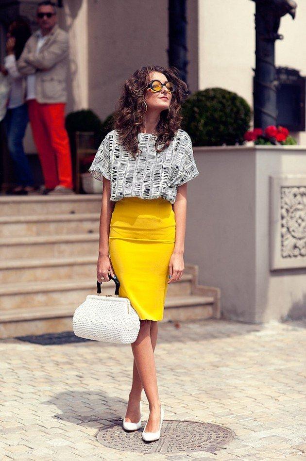 fuste creion la moda 2017