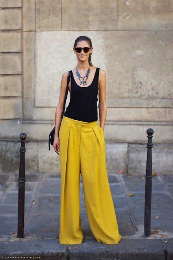 pantaloni palazzo-