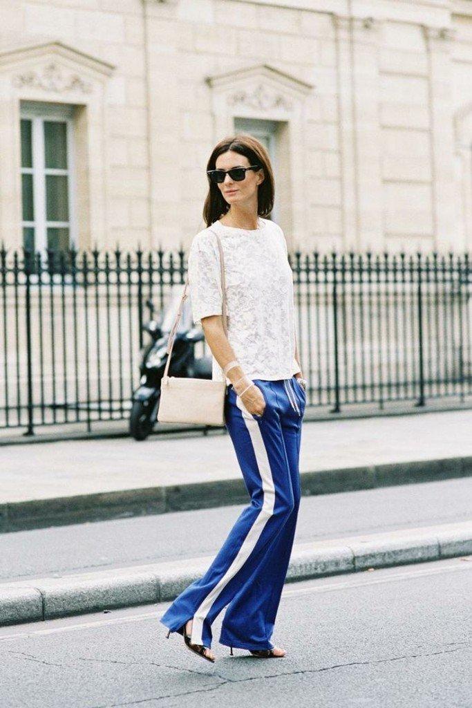 pantaloni trening cu dungi la moda